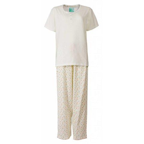 Dames pyjama TEPYD1302A-Crème Wit-TR