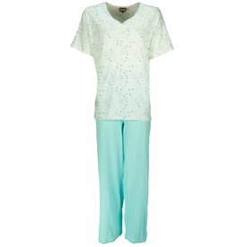 Medaillon Dames pyjama MEPYD1202B-Blauw Groen-C1-2