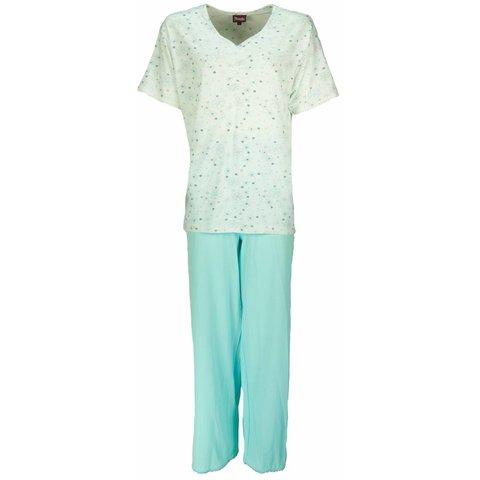 Dames pyjama MEPYD1202B-Blauw Groen-C1-2