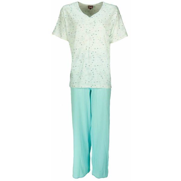 Medaillon Dames pyjama MEPYD1202B-Blauw Groen