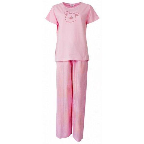 Dames pyjama PYD21043B-Roze-U2