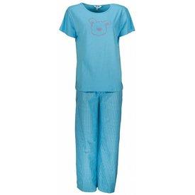 Tenderness Dames pyjama PYD21043C-Blauw-U2