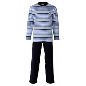 M.E.Q Heren pyjama MEPYH1302A-Blauw-F11