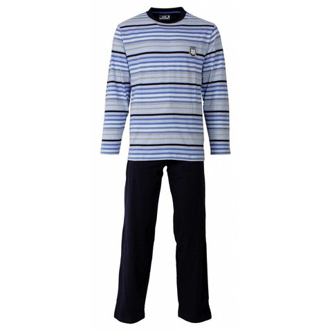 Heren pyjama MEPYH1302A-Blauw-F11