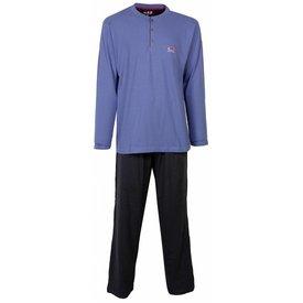 M.E.Q Heren pyjama MEPYH2410B-Blauw-O12