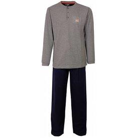 M.E.Q Heren pyjama MEPYH2410A-Grijs-O12