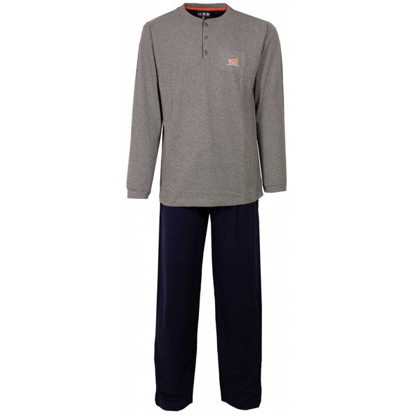 M.E.Q Heren pyjama MEPYH2410A-Grijs