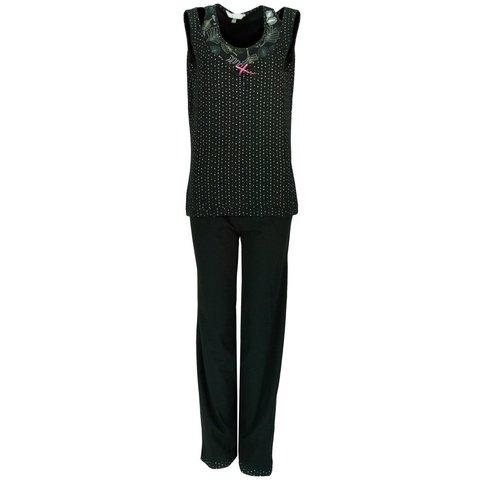 Dames pyjama IRPYD1117B-Zwart-A/B-1
