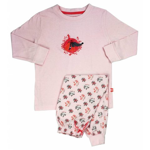 Meisjes pyjama AFPYY1304B-Roze-P2