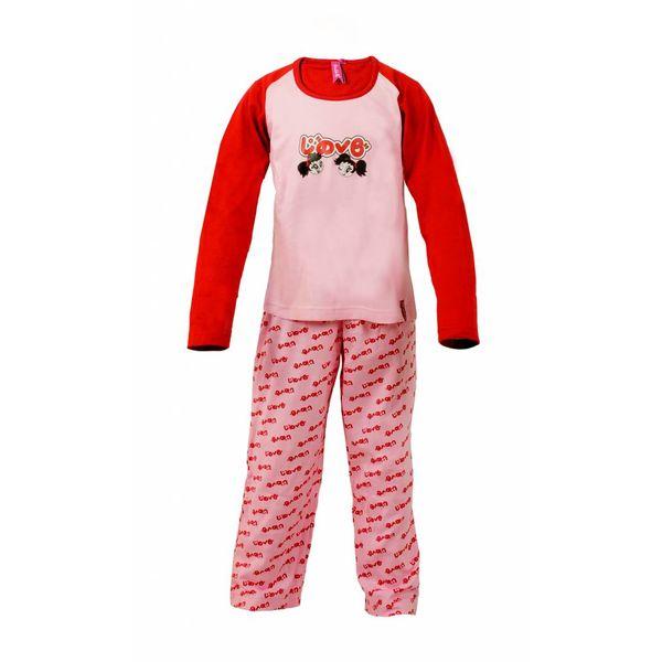 Annarebella Meisjes Pyjama PYM24004B-Roze