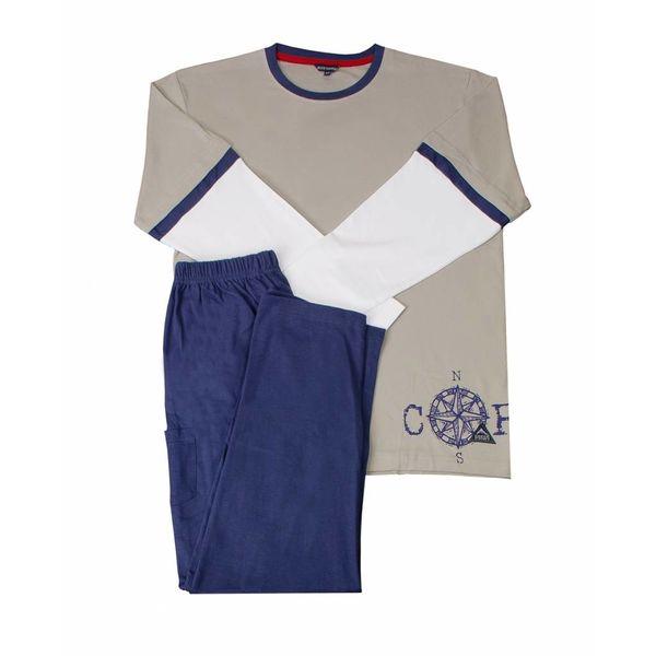 Blue Docks Blue Docks Jongens Pyjama Khaki