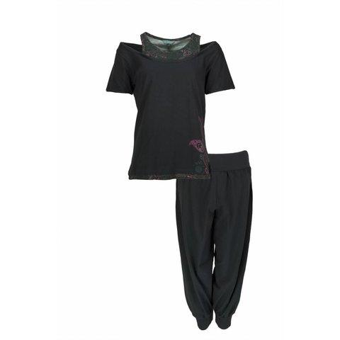 Dames pyjama IRPYD1203D-Zwart-RM