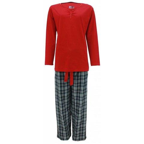 Dames pyjama TEPYD2205A-Rood-N13