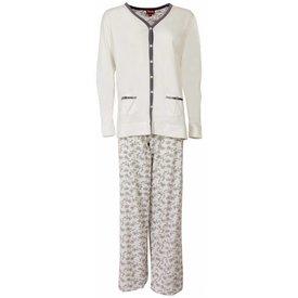 Medaillon Dames pyjama MEPYD1301A-Wit-L11