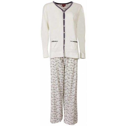 Dames pyjama MEPYD1301A-Wit-L11