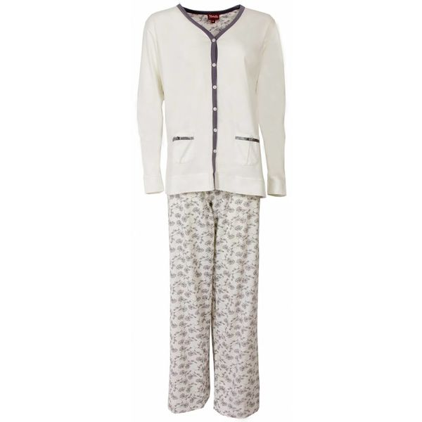 Medaillon Dames pyjama MEPYD1301A-Wit
