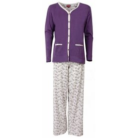 Medaillon Dames pyjama MEPYD1301B-Paars-L11