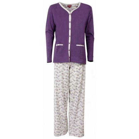 Dames pyjama MEPYD1301B-Paars-L11