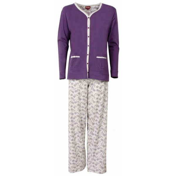 Medaillon Dames pyjama MEPYD1301B-Paars