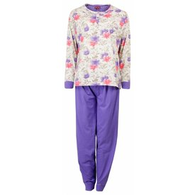 Medaillon Dames pyjama MEPYD1501A-Paars- RM1