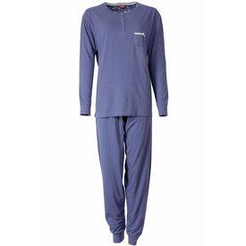 Medaillon Dames pyjama MEPYD2306A-Blauw-TR21