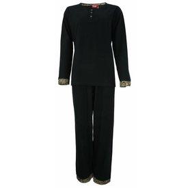 Medaillon Dames pyjama MEPYD2305A-Zwart-RM1