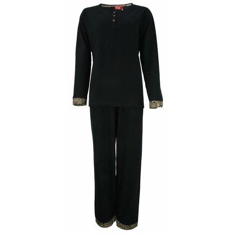 Medaillon Dames Pyjama Zwart