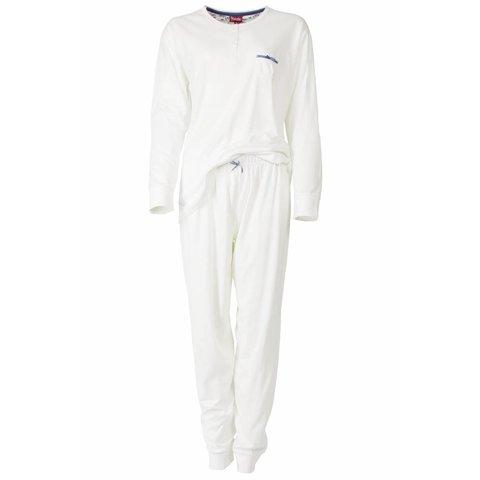 Dames pyjama MEPYD2306B-Wit-B8