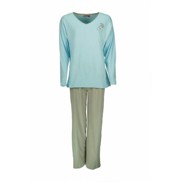 Medaillon Dames pyjama MEPYD2004B-Blauw