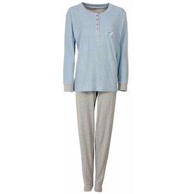 Tenderness Dames pyjama TEPYD1407B-Blauw-O11