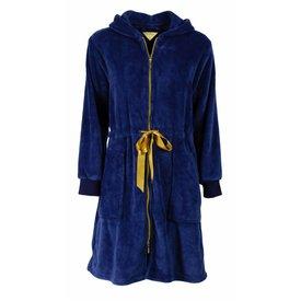 Irresistible Dames badjas IRBRD2503A-met rits-Blauw-H11