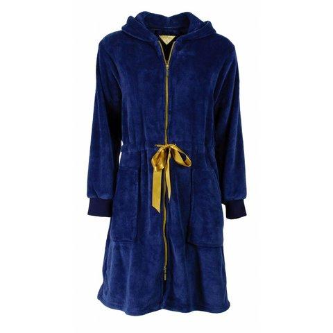 Dames badjas IRBRD2503A-met rits-Blauw-H11