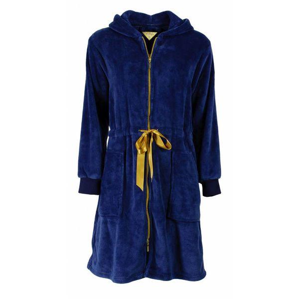 Irresistible Dames badjas IRBRD2503A-met rits-Blauw