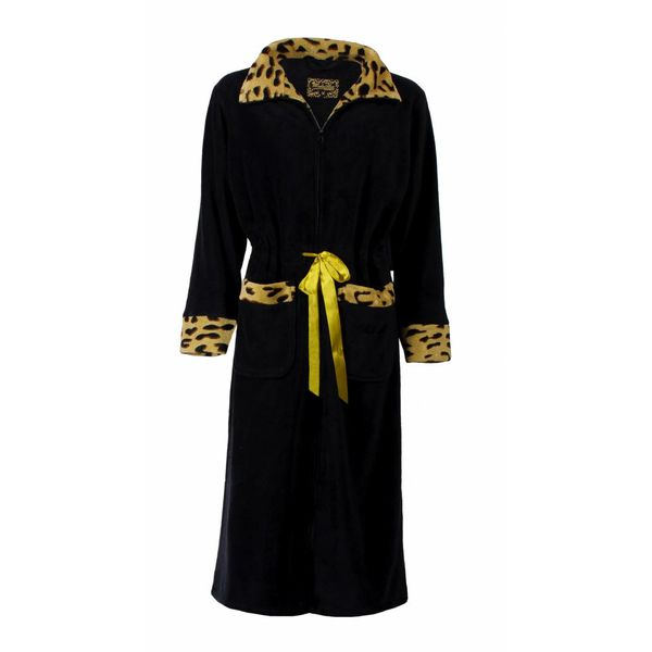 Medaillon Dames badjas MEBRD2507B-zwart