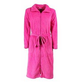 Tenderness Dames badjas met rits TEBRD2501A-Roze-TR10