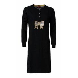 Medaillon Medaillon Dames Nachthemd Zwart
