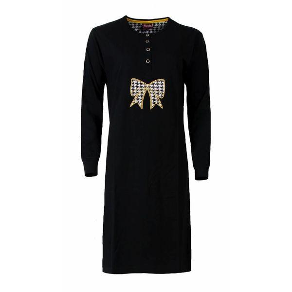Medaillon Dames nachthemd MENGD2502A-Zwart