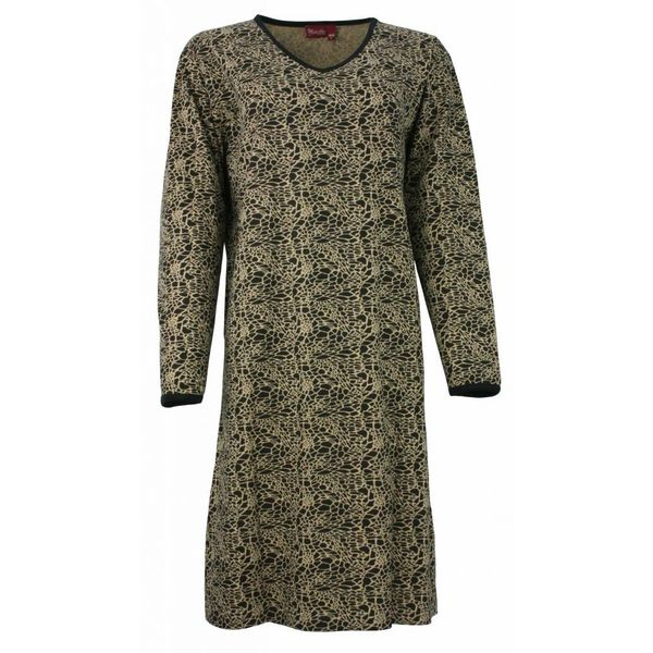 Medaillon Dames nachthemd MENGD2305B-Goud-zwart