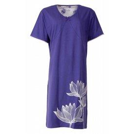 Medaillon Dames nachthemd MENGD1402A-blauw-I-16