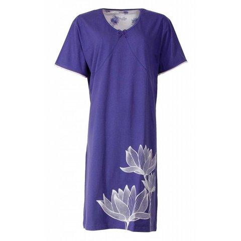 Dames nachthemd MENGD1402A-blauw-I-16