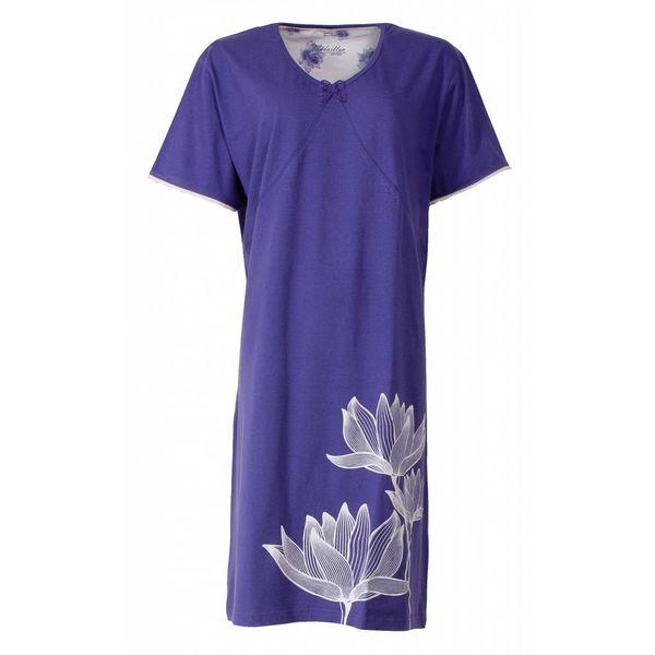 Medaillon Dames nachthemd MENGD1402A-Blauw