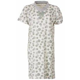 Medaillon Dames nachthemd MENGD1407A-Licht grijs-J17