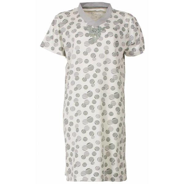 Medaillon Dames nachthemd MENGD1407A-Licht grijs
