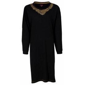 Medaillon Dames nachthemd MENGD2403A-Zwart-RM