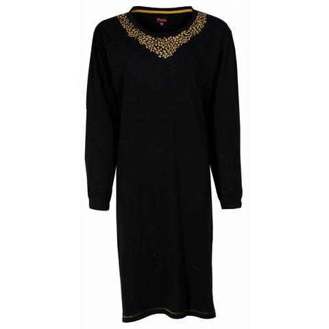 Medaillon Dames Nachthemd Zwart