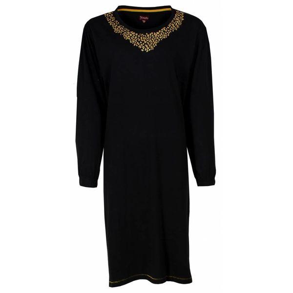 Medaillon Dames nachthemd MENGD2403A-Zwart