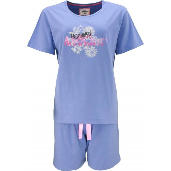 Tenderness Dames shortama TESAD1307A-Blauw