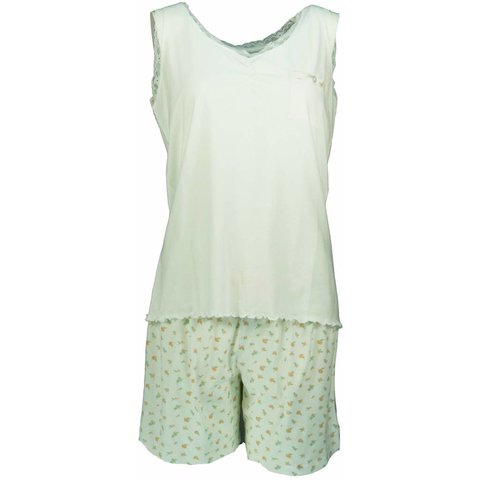 Dames shortama TESAD1302A-Wit-O14