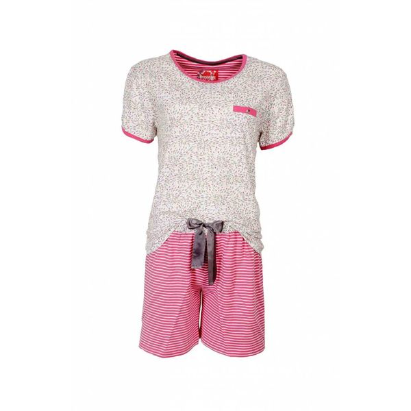 Irresistible Dames shortama IRSAD1307B-Roze-wit