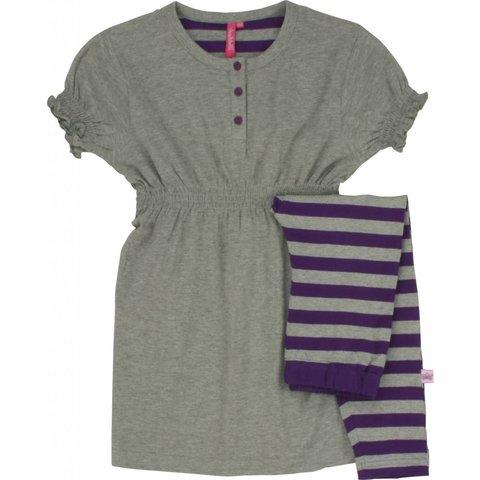 Meisjes pyjama ANPYM1005A-Grijs melange-BR2